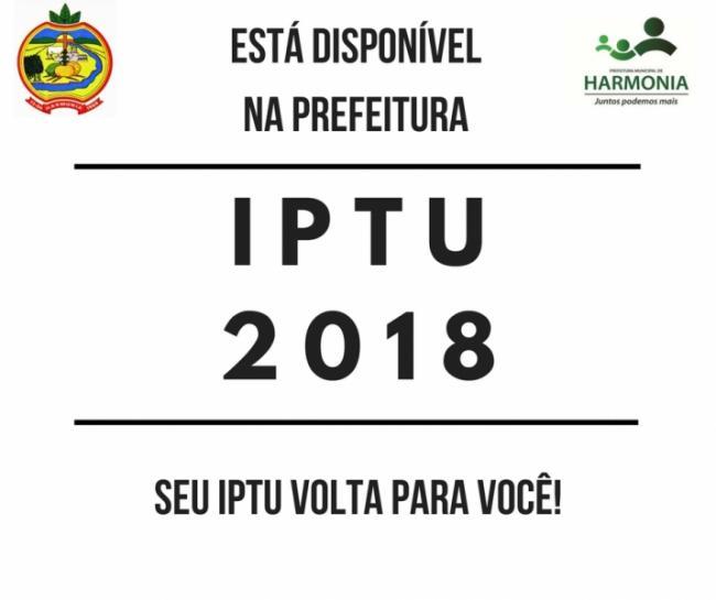 IPTU já pode ser retirado