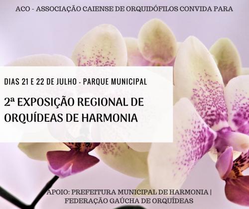 Final de semana terá exposição de orquídeas