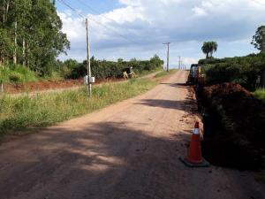 Inicia o asfaltamento na Avenida Santo Antônio