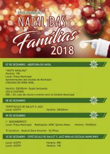 Confira a programação do Natal das Famílias