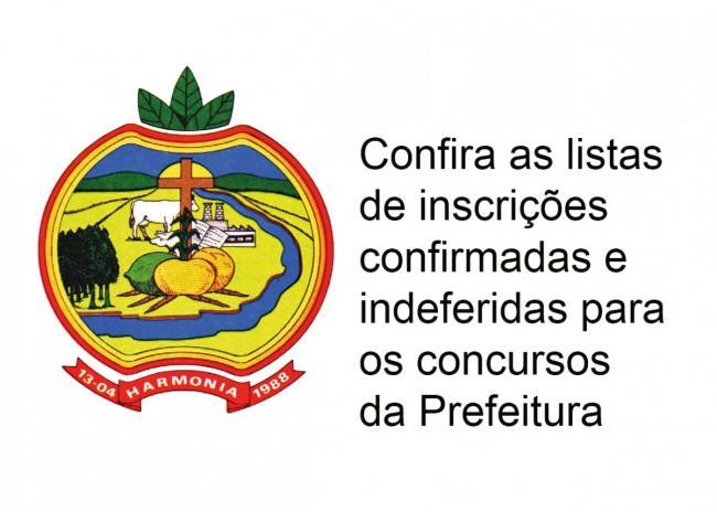 Confira a lista de inscrições e indeferidas para os concursos da Prefeitura
