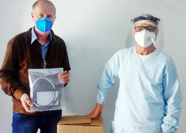 Saúde recebe doação de 20 máscaras faciais de acetato