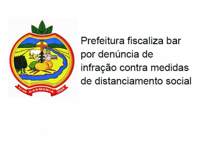 Fiscalização municipal e Brigada verificam denúncia contra bar