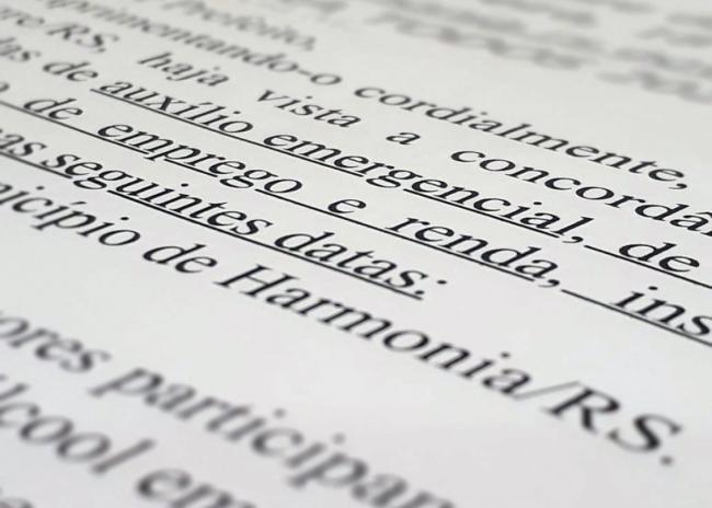 Defensoria da União vai atender casos do Auxílio ou Benefício Emergencial em Harmonia