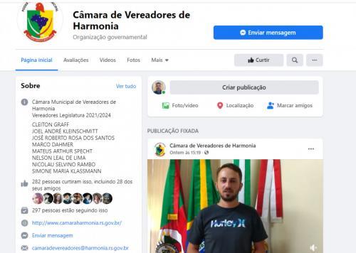 Câmara lança página no Facebook e transmitirá sessões pelo canal