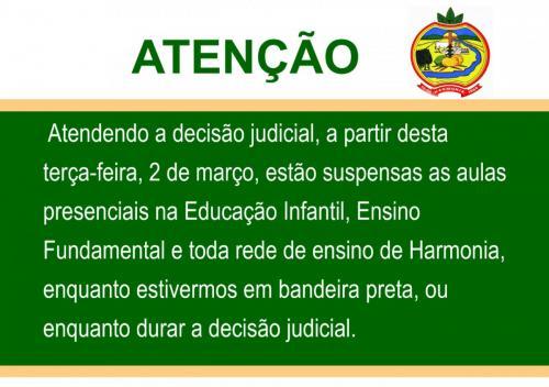 Prefeitura suspende aulas presenciais nas Emeis e Emefs