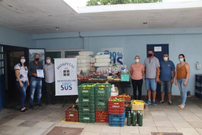 Prefeitura faz entrega das doações de alimentos perecíveis para o Hospital