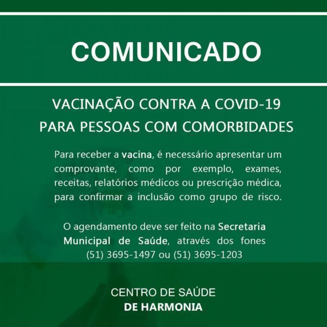 Covid-19: inicia a vacinação para pessoas com comorbidades