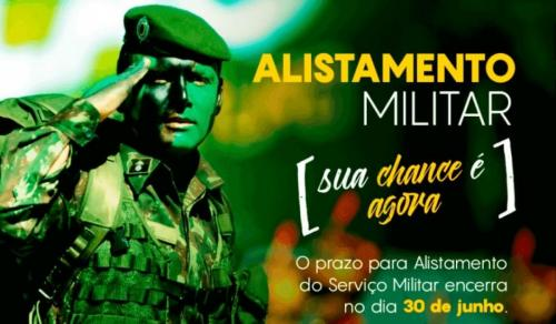 Prazo para o Alistamento Militar encerra dia 30 de junho