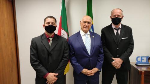 Ernani e Leozildo estiveram em Brasília