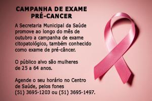 Campanha de pré-câncer ocorre durante o Outubro Rosa