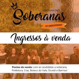 Baile de Escolha das Soberanas da Früchtefest tem ingressos à venda