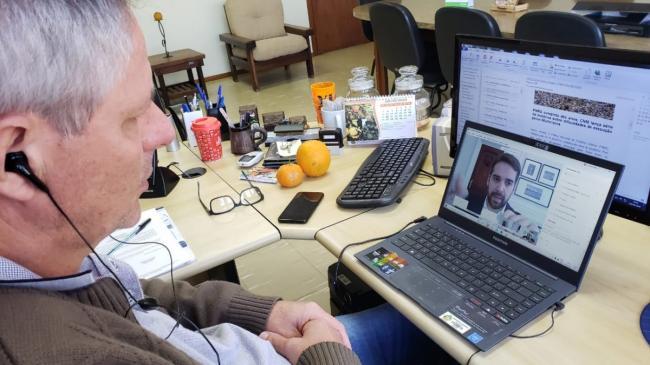 Videoconferência com o governador ocorreu pela manhã